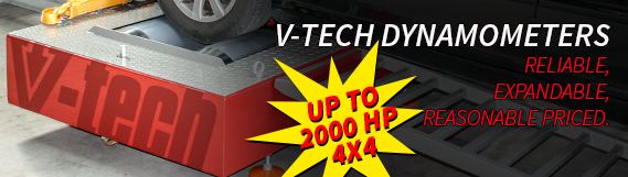 Vtech Dynamometers - reliable, expandable, reasonable priced. Up to 2000 HP 4x4